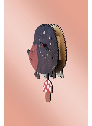 Peoples Clock Kirpi Sallanan Sarkaçlı Çocuk Odası Duvar Saati Renkli